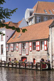 Kanal in Brügge Lizenzfreie Stockbilder