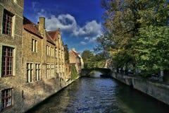 Kanal in Brügge stockfoto