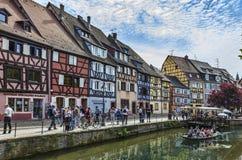 Kanal in Colmar Stockfotos