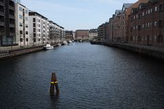 kanal copenhagen royaltyfri fotografi