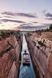 kanal corinth Fotografering för Bildbyråer