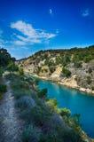 kanal corinth greece Royaltyfri Foto
