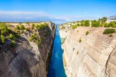 kanal corinth greece Royaltyfria Foton