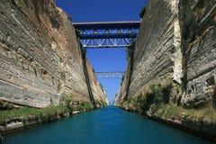 kanal corinth greece Royaltyfri Fotografi