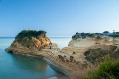 Kanal d'amour Sidari, Korfu-Insel in Griechenland Kanal der Liebe Stockbilder