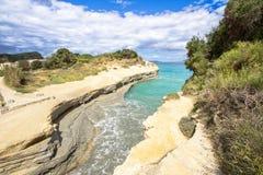 Kanal D ` Liebe bei Sidari, Korfu, Griechenland Stockbilder