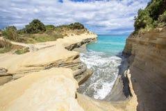 Kanal D ` Liebe bei Sidari, Korfu, Griechenland Stockfoto