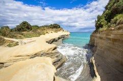 Kanal D ` Liebe bei Sidari, Korfu, Griechenland Lizenzfreie Stockbilder