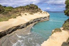 Kanal D ` Liebe bei Sidari, Korfu, Griechenland Lizenzfreies Stockfoto