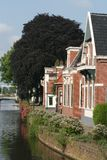 Kanal das Overdiep in Veendam Lizenzfreie Stockfotografie
