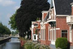 Kanal das Overdiep in Veendam lizenzfreie stockfotos