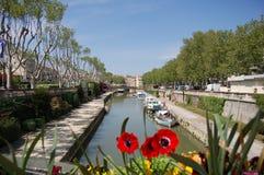 Kanal de la Robine Fotografering för Bildbyråer