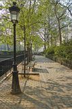 kanal de martin paris saint royaltyfri fotografi