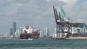 Kanal der Miami-Aktivität stock video footage