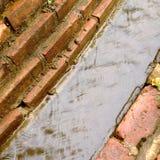 Kanal in der Regenzeit, Nord in Thailand Stockfotos