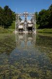 Kanal du Centrera - Strepy-Bracquegnies royaltyfri fotografi