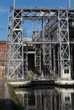 Kanal du Centrera - Strepy-Bracquegnies royaltyfri bild