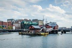 Kanal för fyra punkt - Boston, MOR Arkivbild