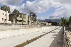 Kanal för Los Angeles County flodkontroll fotografering för bildbyråer