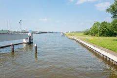 Kanal för prinsessa Margriet i Lemmer royaltyfri fotografi