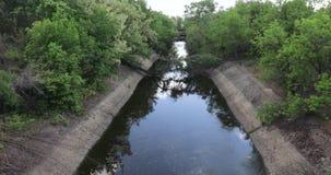 Kanal för urladdning av förlorat vatten arkivfilmer