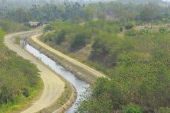 Kanal für die Landwirtschaft in Thailand Lizenzfreies Stockfoto
