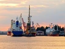 Kanal in Gdynia stockbild