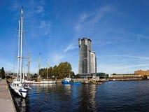 Kanal in Gdynia, Polen. stockbilder