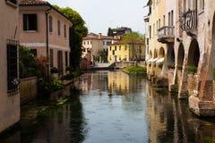 Kanal-Häuser Stockfoto