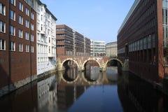 kanal hamburg Royaltyfri Bild