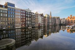 Kanal haus- Amsterdam stockfoto