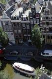 Kanal-Haus von oben Stockbild
