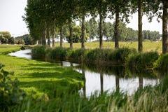 kanal holland arkivfoto