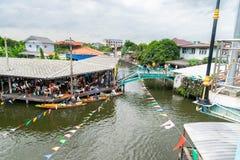 Kanal i Bangkok fotografering för bildbyråer