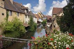 Kanal i Colmar france fotografering för bildbyråer