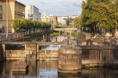 Kanal i Göteborg fotografering för bildbyråer