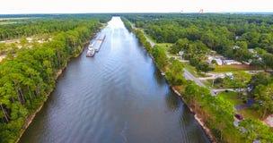 Kanal i golfkuster, Alabama Arkivfoto