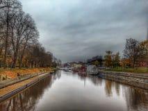 Kanal i höst Royaltyfri Foto