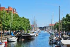 Kanal i Köpenhamn royaltyfri bild