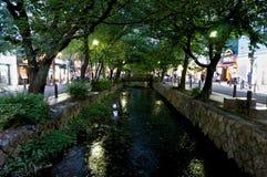 Kanal i Kyoto arkivbilder