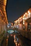 Kanal i Lijiang Arkivbild