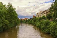 Kanal i Strasbourg, Frankrike royaltyfria foton