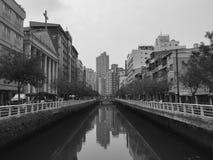 Kanal i Taipei, Taiwan Royaltyfria Foton