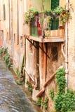 Kanal im Bologna stockbilder