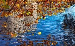Kanal im Herbst Stockfotografie