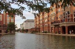Kanal in Indianapolis Stockfotos