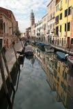 kanal italy venice royaltyfri foto