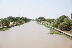 Kanal Khlong Preng im Land Chachoengsao Thailand stockbild