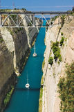 Kanal in Korinth, Griechenland lizenzfreies stockbild