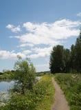 Kanal-Leinpfad Lizenzfreies Stockbild